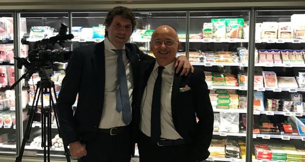 Alberto Pozzi (Accenture) e Marco Pedroni (presidente Coop Italia)
