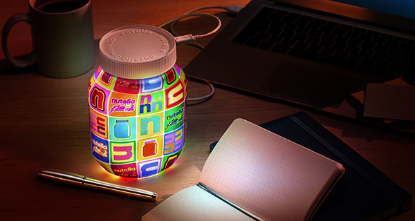 Let there be light: the iconic Nutella jar becomes a lamp