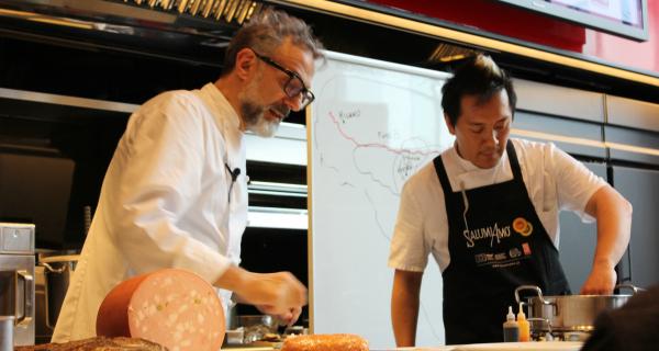 Massimo Bottura, ambassador of Italian cold cuts in Tokyo