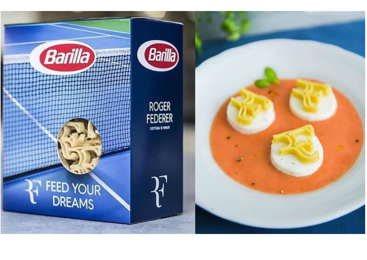 Barilla makes personalized pasta for Roger Federer