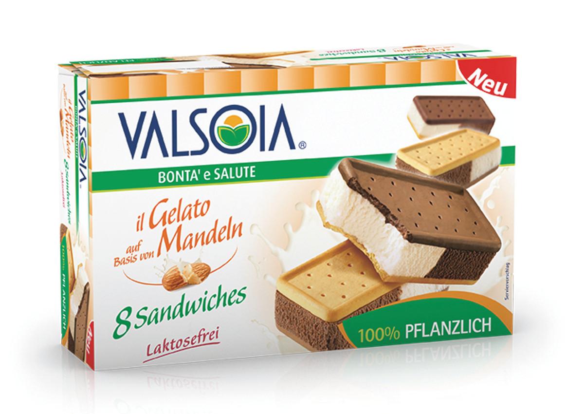 """Valsoia, """"Il Gelato auf basis von mandeln"""""""