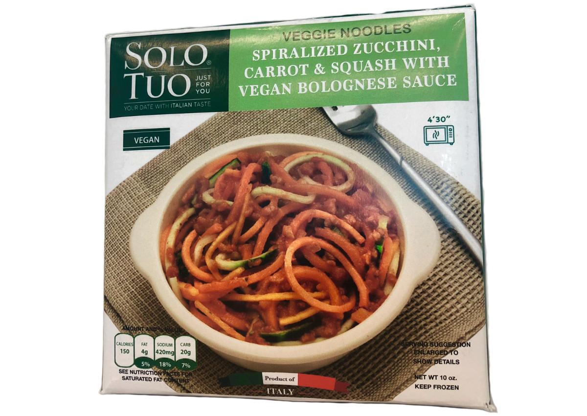 Veggie noodles with vegan Bolognese sauce - Topan