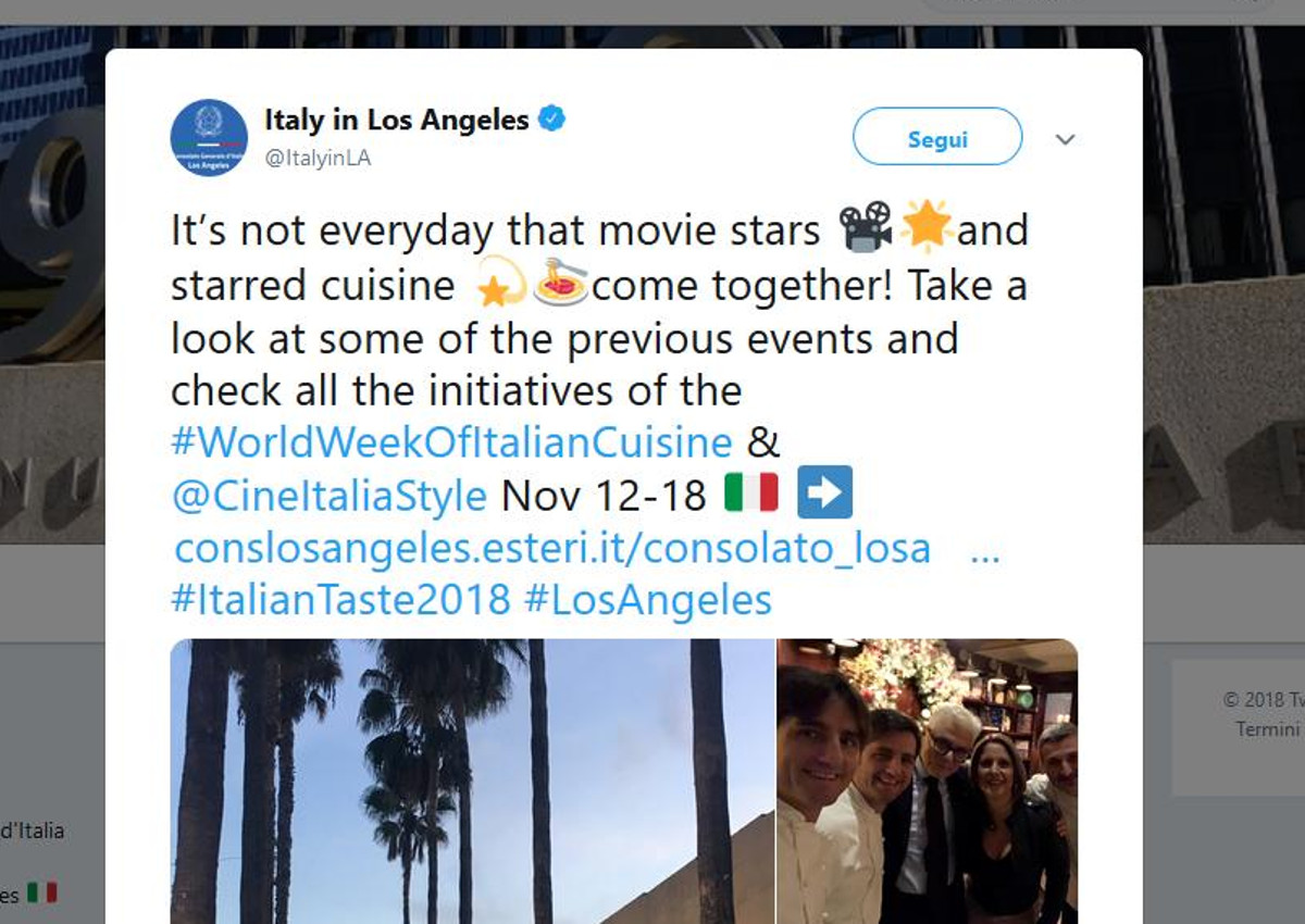 Los Angeles-Italian cuisine week
