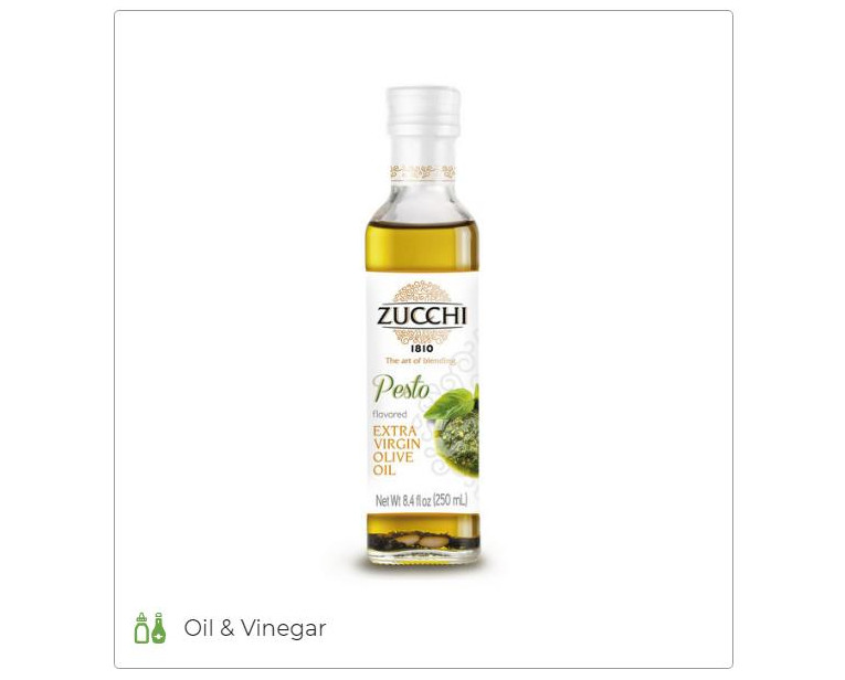 Pesto flavored extra virgin olive oil - Oleificio Zucchi