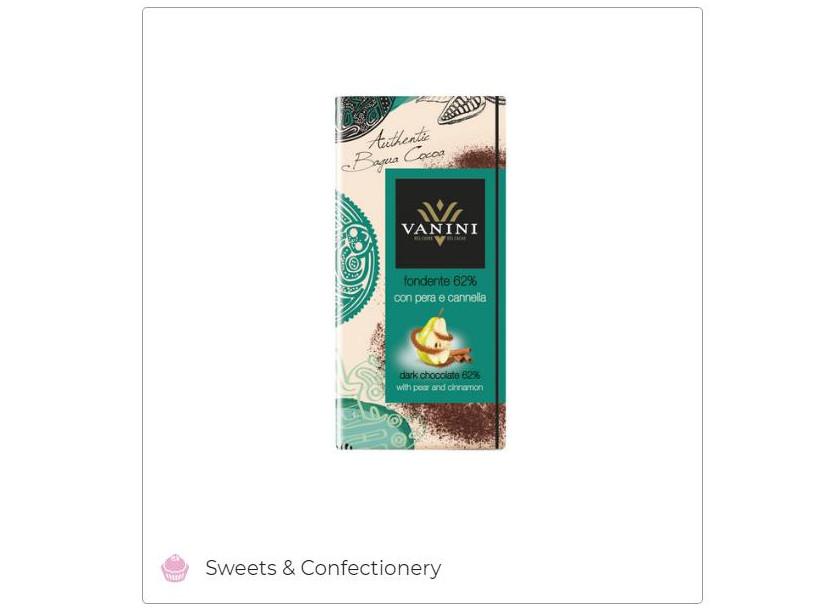 Vanini Dark Chocolate 62% Bagua Cocoa with Pear and Cinnamon - Icam