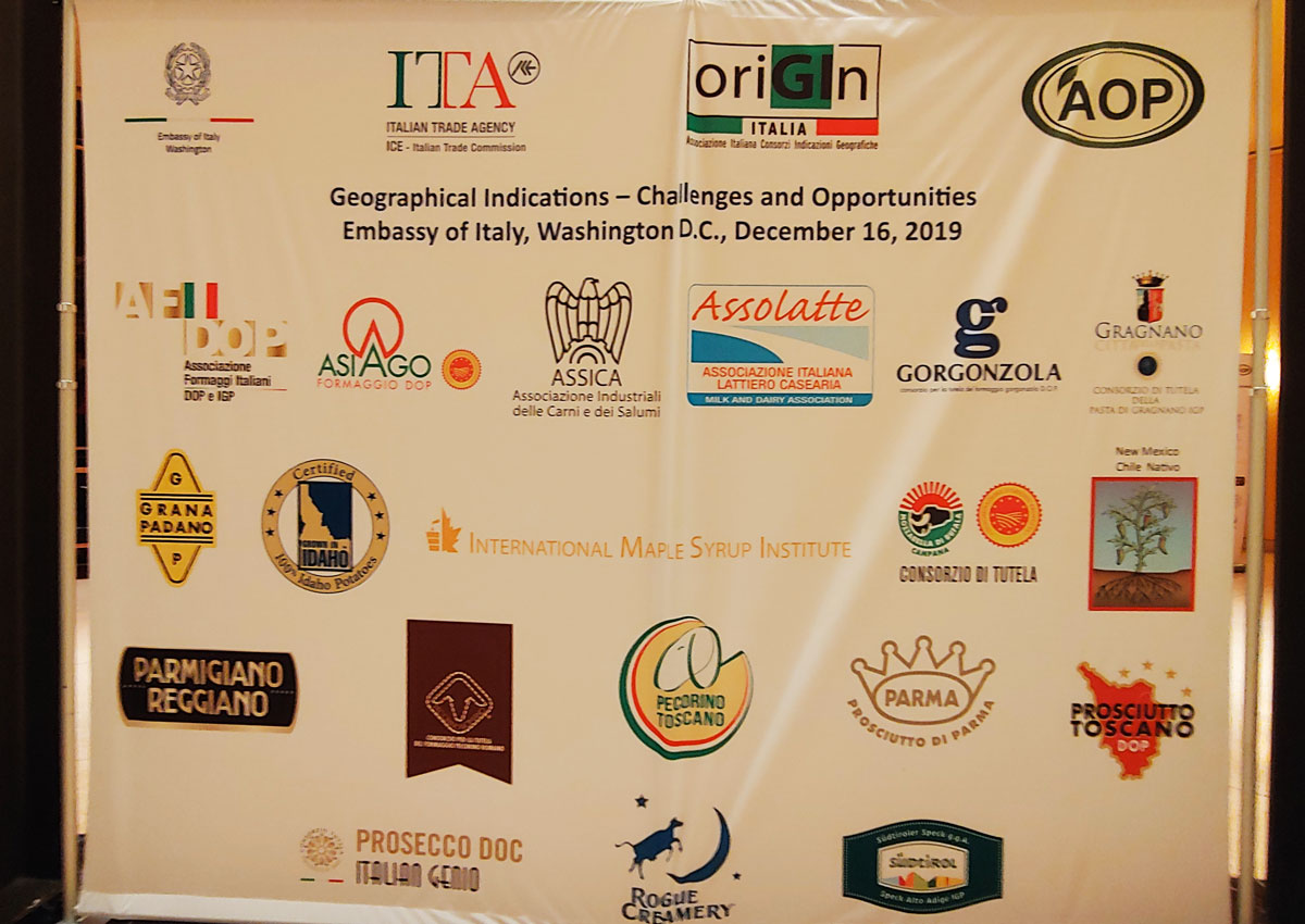 Geographical indications are an opportunity as US consumers want safety