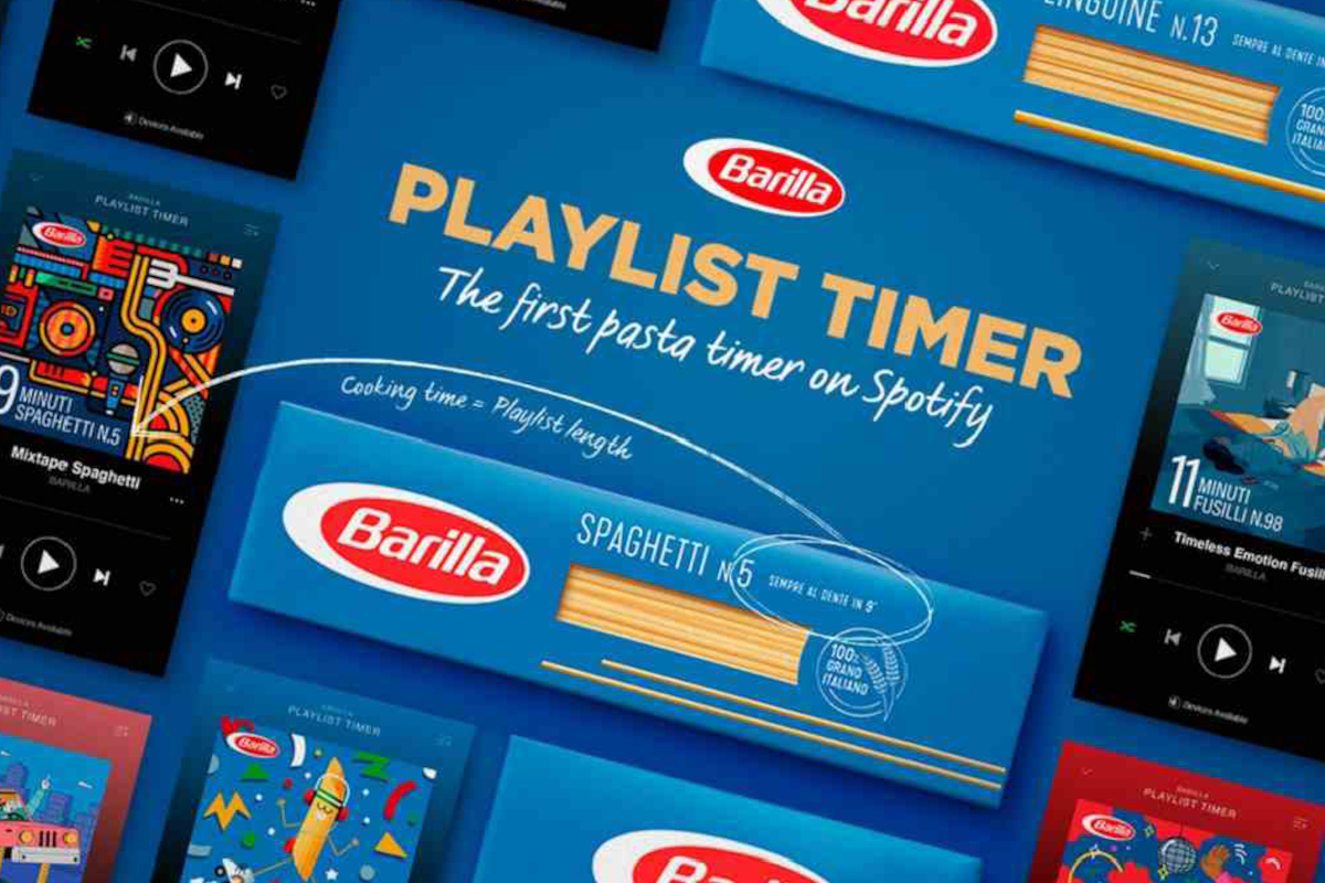 Barilla starts a Spotify playlist for a perfectly cooked pasta -  dlmdd.com